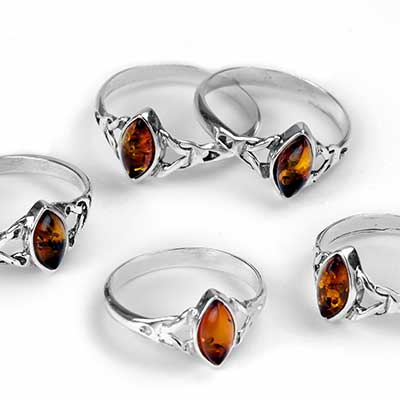 Braided Marquise Amber Ring