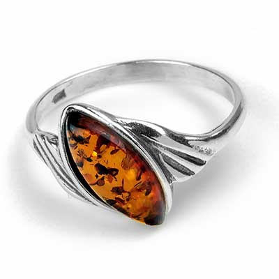 Windswept Amber Ring
