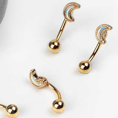 Crescent Moon Curved Barbell