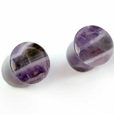 Single Flare Amethyst Plugs