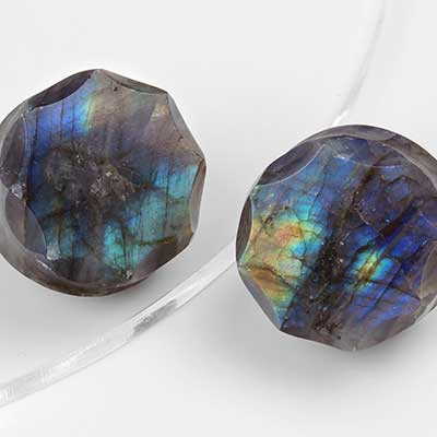 Crowned Labradorite Plugs