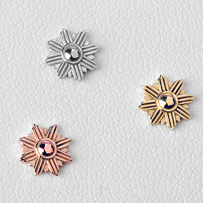 Solid 14k Gold Starburst Threadless End