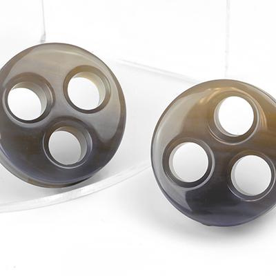 Brazillian Agate Triple Eyelets