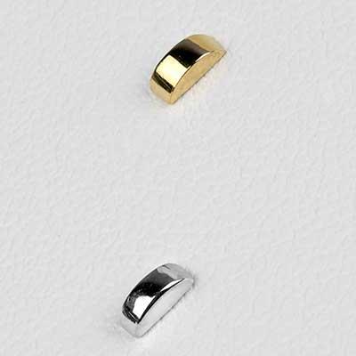 Solid 14k Gold Half Circle Threadless End