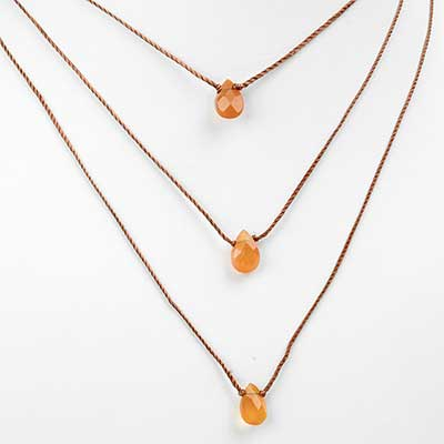 Pink-Orange Chalcedony Necklace