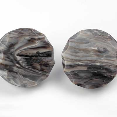 Crowned Petrified Wood Plugs