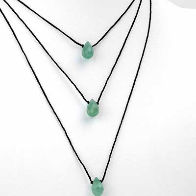 Silk and Aventurine Necklace