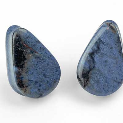 Dumortierite Teardrop Plugs