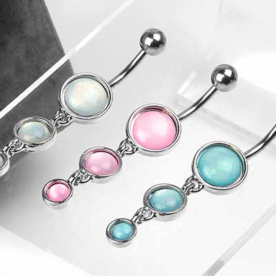 Triple Drop Illuminating Cabochon Navel