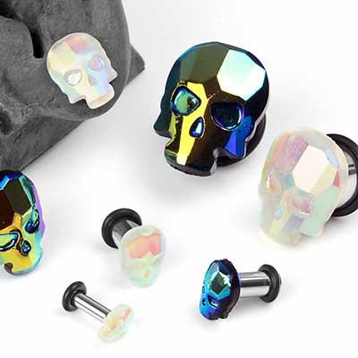 Geometric Skull Plugs