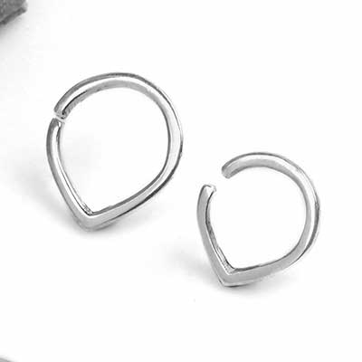 Silver Dew Drop Seamless Ring