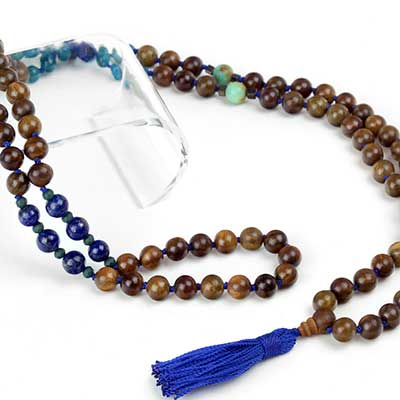 Throat Chakra Mala Necklace