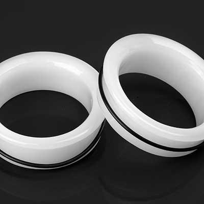 Single Flare Glass Eyelets (White Jade)