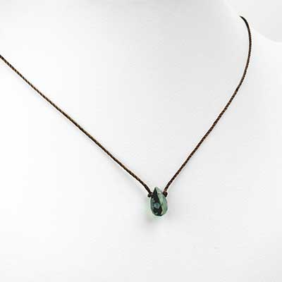 Silk and Prehnite Necklace