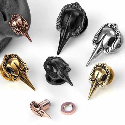 Raven Skull Plugs