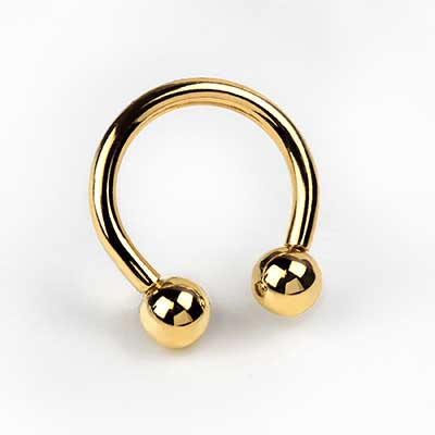 14K Gold Circular Barbell (Internally Threaded)