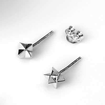 Silver Merkaba Stud Earrings