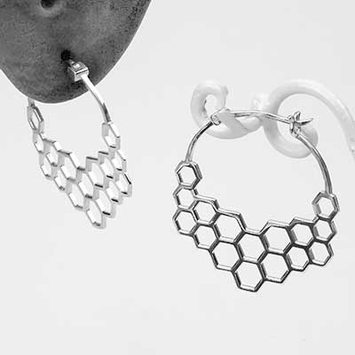 Honeycomb Hoop Earrings