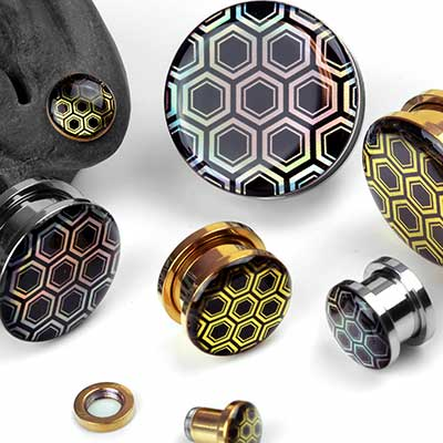 Iridescent Honeycomb Plugs