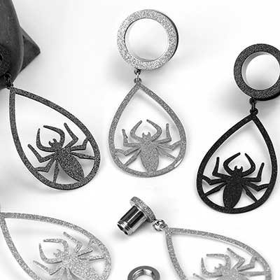 Spider Dangle Eyelets