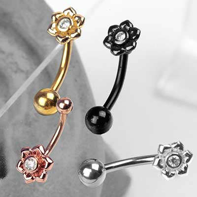 Flower Curved Barbell
