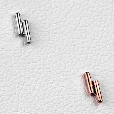 Solid 14k Gold Double Rod Threadless End