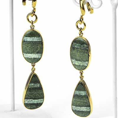 Solid Brass and Swiss Opal Dangle Weights