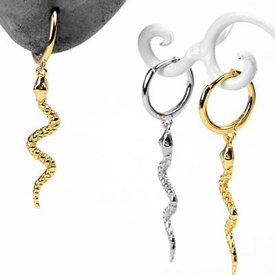 Dangle Snake Huggie Earring