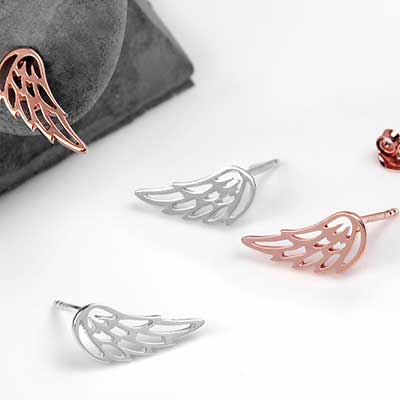 Wing Silhouette Stud Earrings