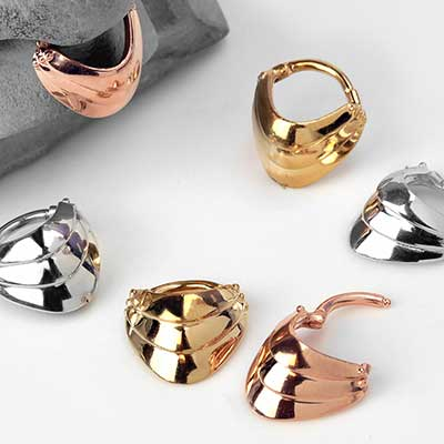 Armored Septum Clicker Ring
