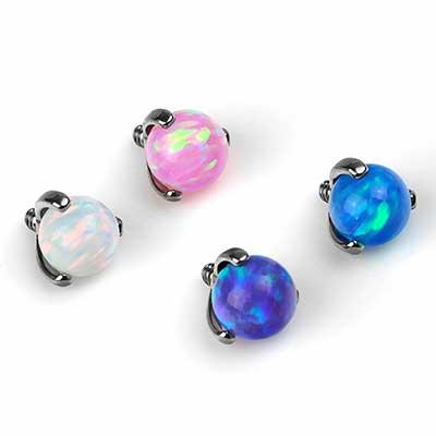 3-Prong Set Opal Ball Threaded End