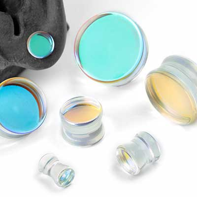 Iridescent Glass Plugs