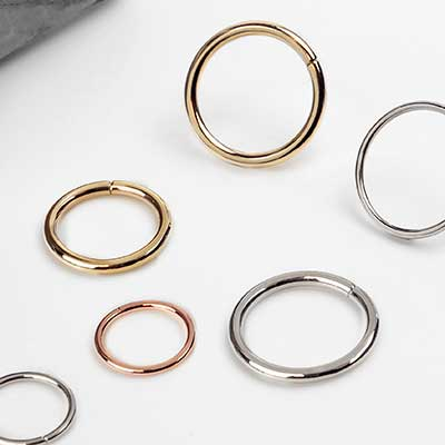 14K Solid Gold Seamless Rings
