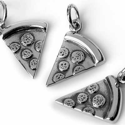 Silver Pizza Pendant