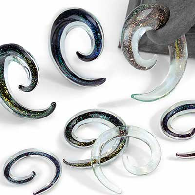 Glass Dichro Spirals