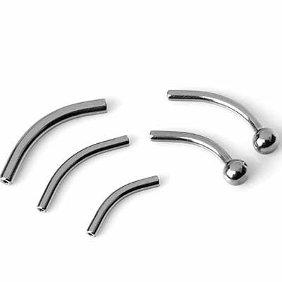 Titanium Curved Threadless Barbells