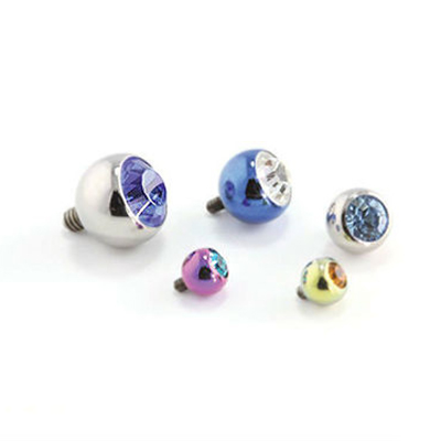 PRE-ORDER threaded titanium gem ball