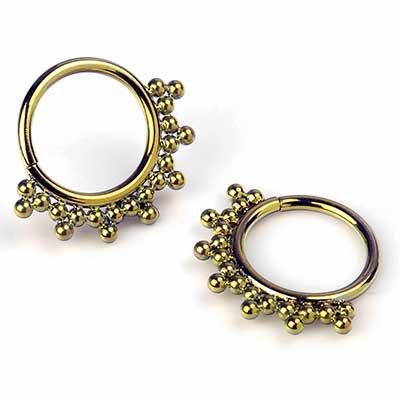 Niobium Haute Couture Bijoux Seamless Rings