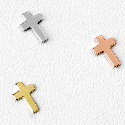 14k Gold Cross Threadless End