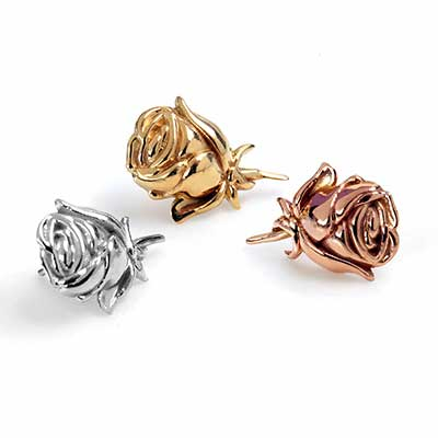 14k Gold Rose Threadless End