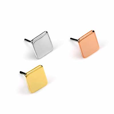 14k Gold Square Threadless End