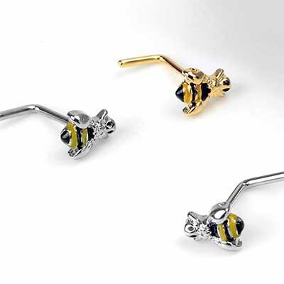 Buzz Off Bee Straight Nosescrew