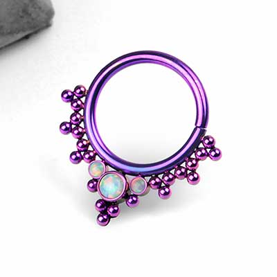Purple Titanium Haute Couture Bijoux Seamless Rings