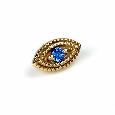 Threadless 14k Gold Double Milgrain Marquise End