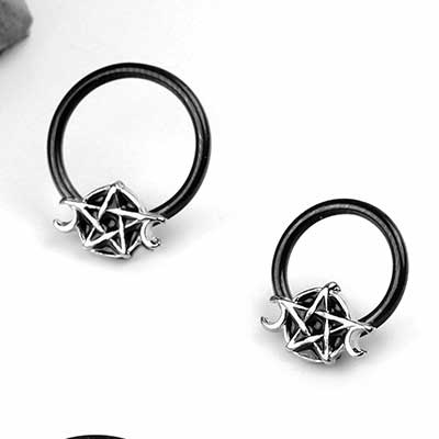 Pentagram Captive Ring