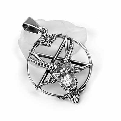 Silver Baphomet Pendant