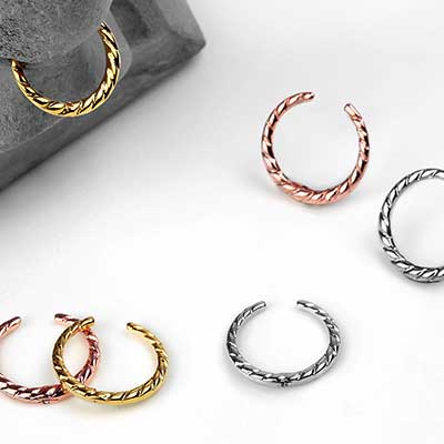 Dainty Twisted Septum Cuff