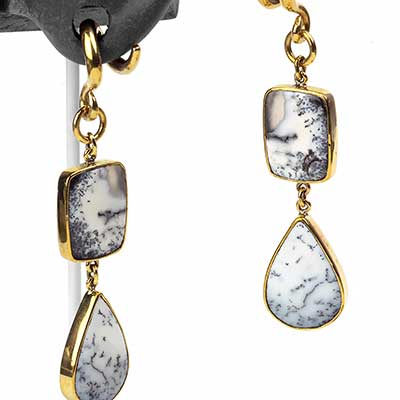 Solid Brass Dendritic Opal Dangle Weights