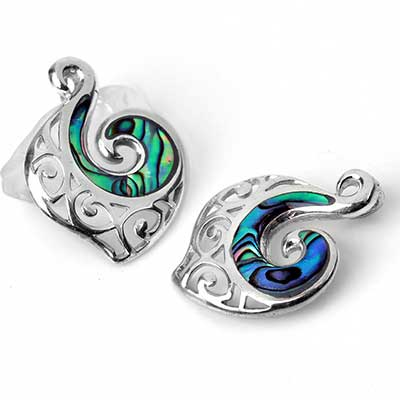 Silver Filigree and Abalone Shell Pendant