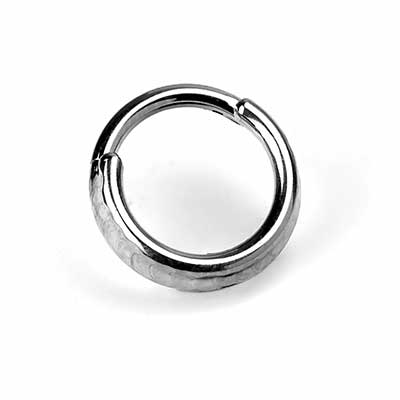 Titanium Hammered Two Ring Clicker